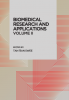 Cover for BIOMEDICAL RESEARCH AND APPLICATION VOLUME II